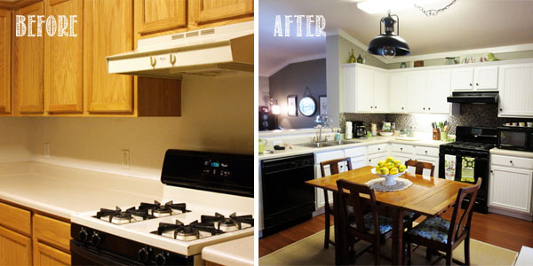Kitchen Cabinet Makeovers Before And After diy: kitchen cabinet makeover | hum a tune