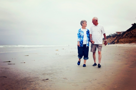While in San Diego, I coerced Mama and Papa into a photo shoot at Moonlight Beach. They were troopers and didn't fuss over smooching in public. Don't they look like they are straight off a page of Mature Living?